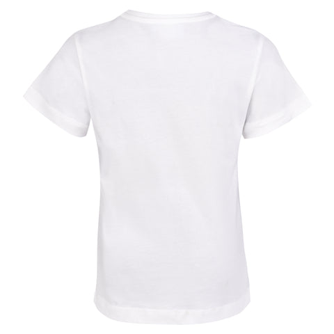 Boy's Lanvin White T-Shirt with Large L Logo