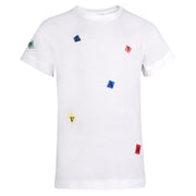 Boy's Lanvin Multi Square White T-Shirt