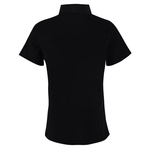 Boy's Lanvin Grosgain Collar Black Polo