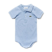 Boy's Lacoste Boxed Baby Babygrow Blue