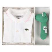 Girl's Lacoste Boxed Baby Pique White