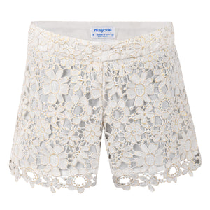 Girl's Mayoral Laced Shorts