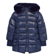 Girl's Mayoral Sparkling And Padded Jacket Navy