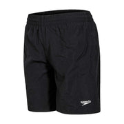 "Boy's Speedo Black Solid Leisure 15"" Water Shorts"