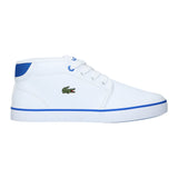 Boy's Lacoste Ampthill White/Blue Trainers
