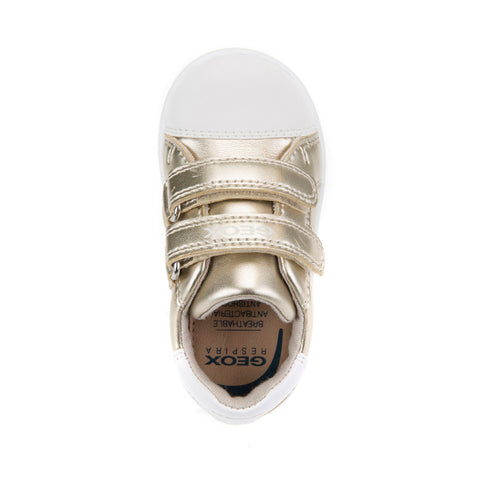 Girl's Geox Gold Velcro Trainers