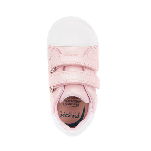 Girl's Geox Rose Gold Glitter Trainers
