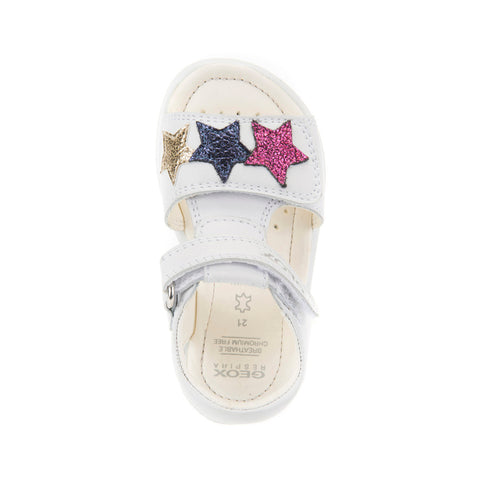 Girl's Geox Silver Sandals