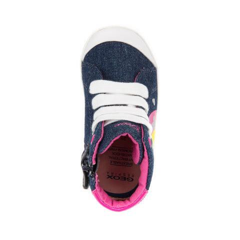 Girl's Geox Denim Canvas Shoes