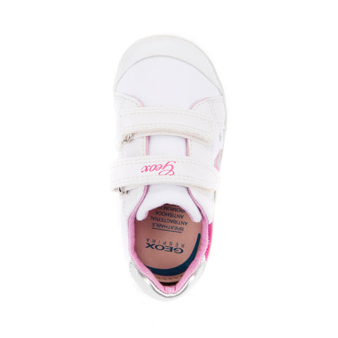 Girl's Geox White Canvas Shoes
