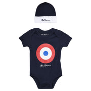 Ben Sherman - Boys 2-Pack Core Hat And Bodysuit Set Navy Blazer - WHIZZKID.COM