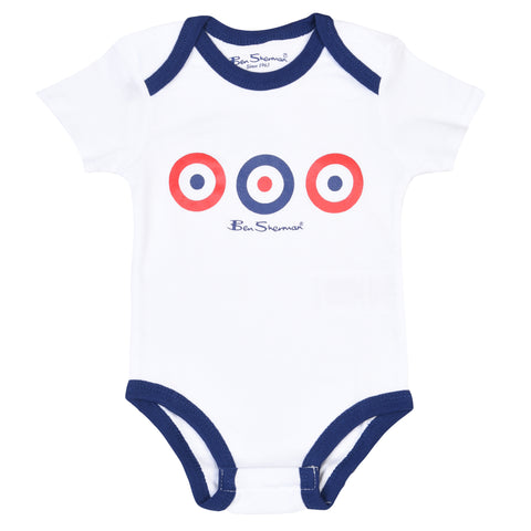 Boy's Ben Sherman Core  Piece Target Infant Set Bright White