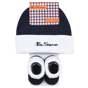 Ben Sherman - Boys Core Script Hat And Booties Pack Navy - WHIZZKID.COM