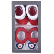 Ben Sherman - Boys 2-Pack Core Booties Set Red - WHIZZKID.COM