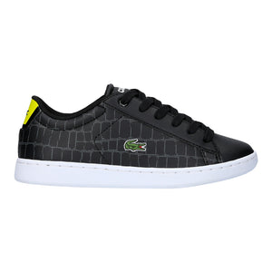 Boy's Lacoste Carnaby Evo Black Trainers