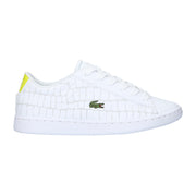 Boy's Lacoste Carnaby Evo White/Yellow Trainers