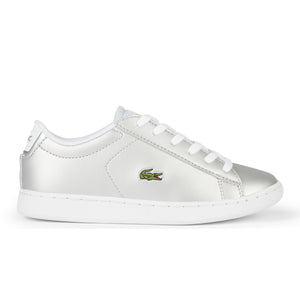 Girl's Lacoste Light Grey Trainers (Sizes 10 - 1)