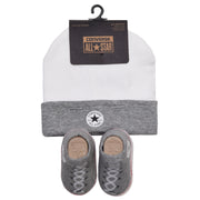 Converse - Unisex Vintage Grey Heather Hat and Bootie Set - WHIZZKID.COM