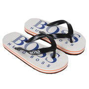 Boy's Hugo Boss White Flip Flops