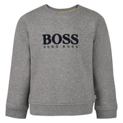 Boy's Hugo Boss Grey Marl Sweatshirt