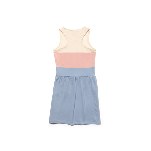 Girl's Lacoste Stripped Pique Dress Pink/Blue