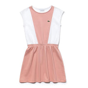 Girl's Lacoste Two Tone Dress White/Pink
