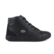 Boy's Lacoste Black Trainers (Sizes 3-9)