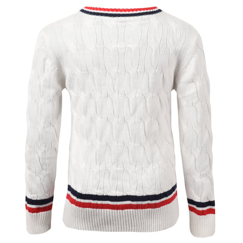 Franklin and Marshall Cricket Jumper Off White