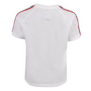 Franklin and Marshall Shoulder Taped Tee Bright White