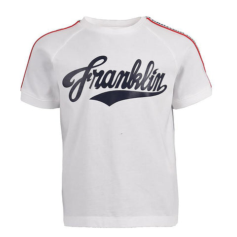 Franklin and Marshall Badge Logo Sweat Shorts Navy
