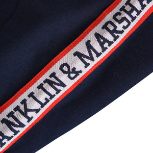Franklin and Marshall Shoulder Taped Tee Navy