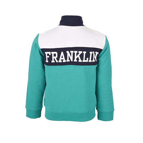 Boy's Franklin & Marshall French Terry Contrast Sweater Bright Green