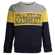 Boy's Franklin & Marshall Jet Pockets Logo Sweater Navy