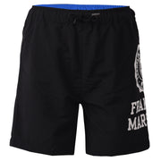 Boy's Franklin & Marshall Oversized Side Print Shorts Black