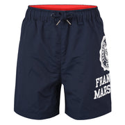 Boy's Franklin & Marshall Oversized Side Print Shorts Navy