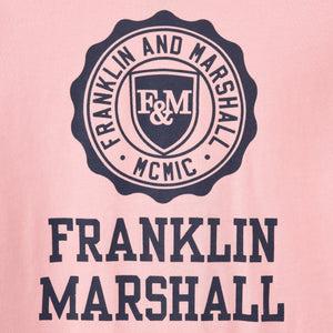 Boy's Franklin & Marshall Logo Tee Powder Pink Marl
