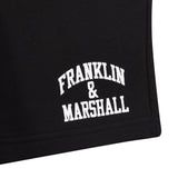 Franklin and Marshall Logo Sweat Shorts Black