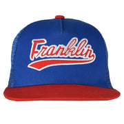 Franklin and Marshall Script Trucker Cap Victoria Blue One Size
