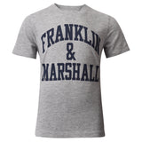 Franklin and Marshall Logo Tee Vintage Grey Heather
