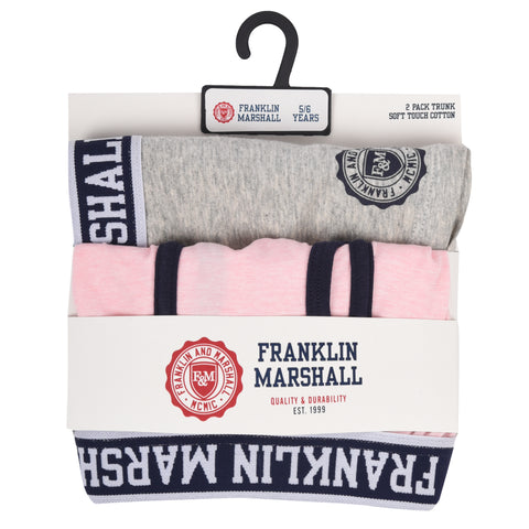 Franklin and Marshall Contrast Sleeve Tee Letterbox Red