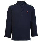 Boy's Farah Blaney Core Long Sleeve Polo Navy