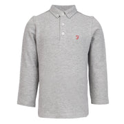 Boy's Farah Blaney Core Long Sleeve Polo Vintage Grey Heather