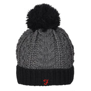 Boy's Farah Bobble Hat Black