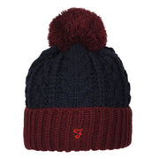 Boy's Farah Bobble Hat Navy