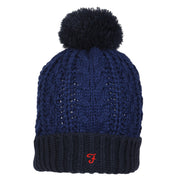 Boy's Farah Bobble Hat Cobalt