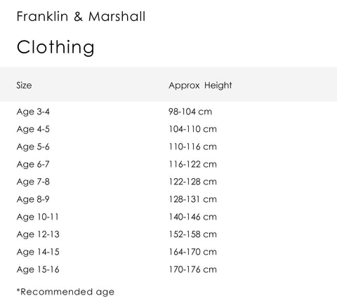 Boy's Franklin & Marshall Retro Logo Tee White