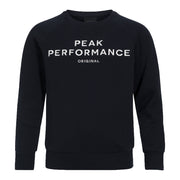 Unisex Peak Performance Junior Blue Logo Crew Sweat