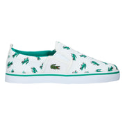 Boy's Lacoste Gazon White Trainers