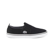 Boy's Lacoste Black/Dark Grey Trainers (Sizes 2-5.5)