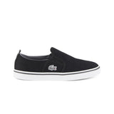 Boy's Lacoste Black/Dark Grey Trainers (Sizes 3 - 9)